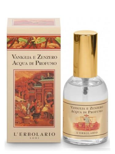 vaniglia e zenzero profumo erbolario
